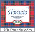 Horacio, nombre, significado y origen de nombres