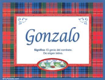 Gonzalo, nombre, significado y origen de nombres