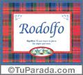 Rodolfo, nombre, significado y origen de nombres