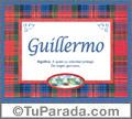 Guillermo, nombre, significado y origen de nombres