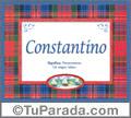 Constantino, nombre, significado y origen de nombres