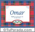 Omar, nombre, significado y origen de nombres