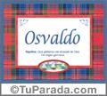 Nombre Tarjeta con imagen de Osvaldo para feliz cumpleaños