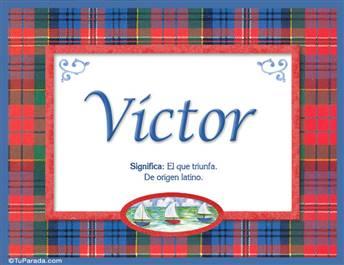 Victor, nombre, significado y origen de nombres