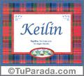 Keilin, nombre, significado y origen de nombres