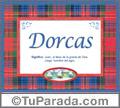 Dorcas, nombre, significado y origen de nombres