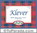 Klever, nombre, significado y origen de nombres