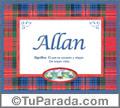 Allan, nombre, significado y origen de nombres
