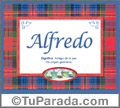 Alfredo, nombre, significado y origen de nombres