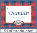 Damián, nombre, significado y origen de nombres