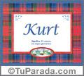 Kurt, nombre, significado y origen de nombres
