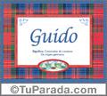 Guido, nombre, significado y origen de nombres