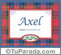 Axel, nombre, significado y origen de nombres