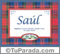 Nombre Tarjeta con imagen de Saúl para feliz cumpleaños