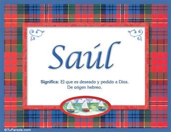 Saúl, nombre, significado y origen de nombres