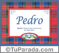 Pedro, significado y origen de nombres
