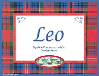 Leo, nombre, significado y origen de nombres