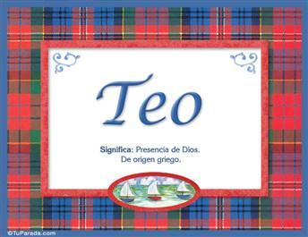 Teo, nombre, significado y origen de nombres
