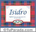 Isidro, nombre, significado y origen de nombres