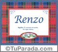 Renzo, nombre, significado y origen de nombres