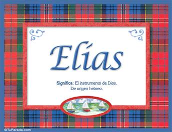 Elías, nombre, significado y origen de nombres