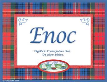 Enoc, nombre, significado y origen de nombres