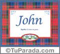 John, nombre, significado y origen de nombres