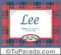 Lee, nombre, significado y origen de nombres