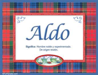 Aldo, nombre, significado y origen de nombres