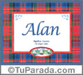 Alan, nombre, significado y origen de nombres