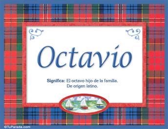Octavio, nombre, significado y origen de nombres