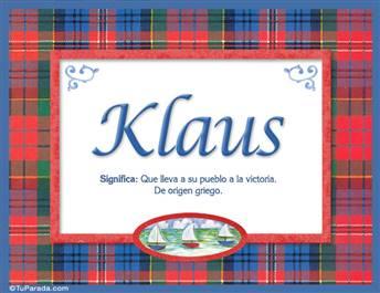 Klaus, nombre, significado y origen de nombres