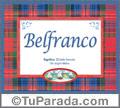 Belfranco, nombre, significado y origen de nombres