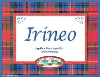 Irineo, nombre, significado y origen de nombres