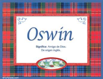 Oswin, nombre, significado y origen de nombres