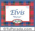 Nombre Tarjeta con imagen de Elvis para feliz cumpleaños