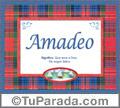 Amadeo, nombre, significado y origen de nombres