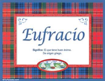 Eufracio, nombre, significado y origen de nombres