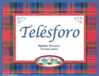 Telésforo, nombre, significado y origen de nombres