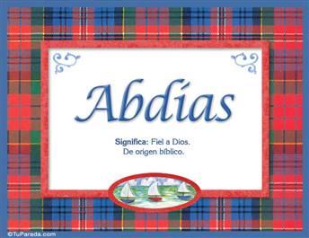 Abdias, nombre, significado y origen de nombres