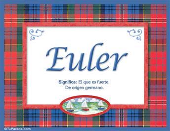 Euler, nombre, significado y origen de nombres