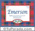 Emerson, nombre, significado y origen de nombres