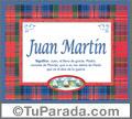 Juan Martin, nombre, significado y origen de nombres
