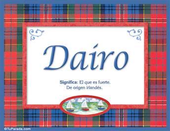 Dairo, nombre, significado y origen de nombres