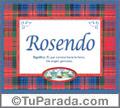 Nombre Tarjeta con imagen de Rosendo para feliz cumpleaños