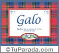 Nombre Tarjeta con imagen de Galo para feliz cumpleaños
