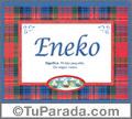 Eneko, nombre, significado y origen de nombres