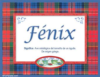 Fénix, nombre, significado y origen de nombres