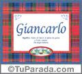 Giancarlo, nombre, significado y origen de nombres