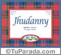 Nombre Tarjeta con imagen de Jhudanny para feliz cumpleaños
